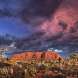 Sunrise over Uluru (Ayres Rock) in Australia