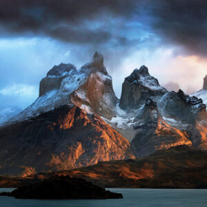 Wild and dramatic landscapes in patagonia