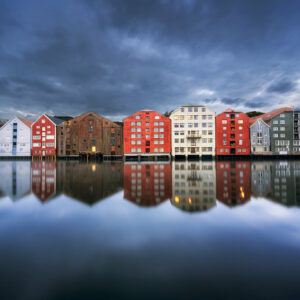 Trondheim reflection photo