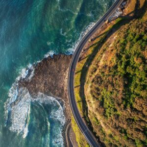 Seacliff Bridge aerial