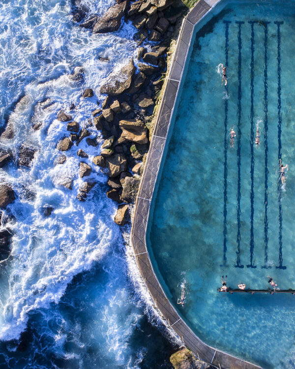 Aerial Photo of Bronte Pool