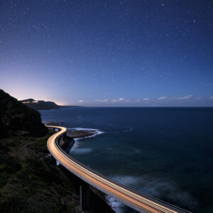 A long exposure over SeaCliff Bridge