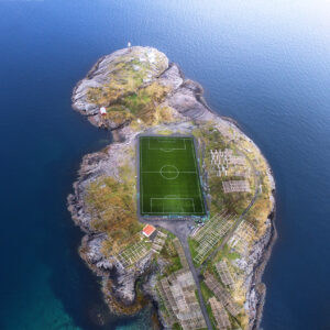 Amazing football stadium in Norway