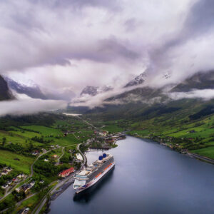 Cruise Ship docked in Norway