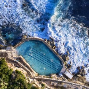 Aerial Drone Photo of Bronte Pool