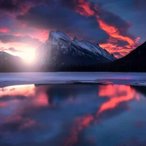 Sunrise over Banff National Park