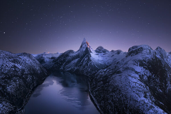 Photo of mountains and stars
